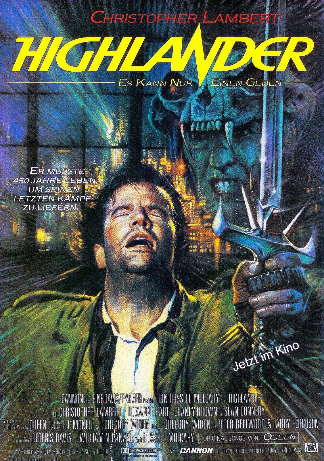 Risultati immagini per HIGHLANDER ( 1986 ) POSTER