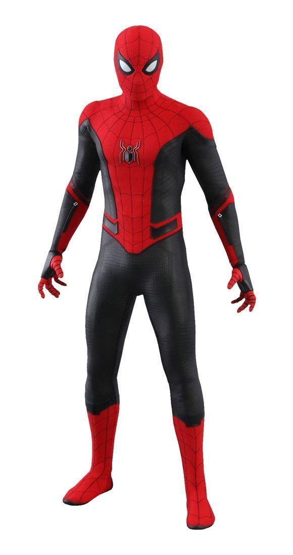 Spider Man Far From Home Movie Masterpiece Action Figure 1 6 Spider Man Upgraded Suit 29 Cm Hot Toys Spiderman Spiderman Suits Spiderman
