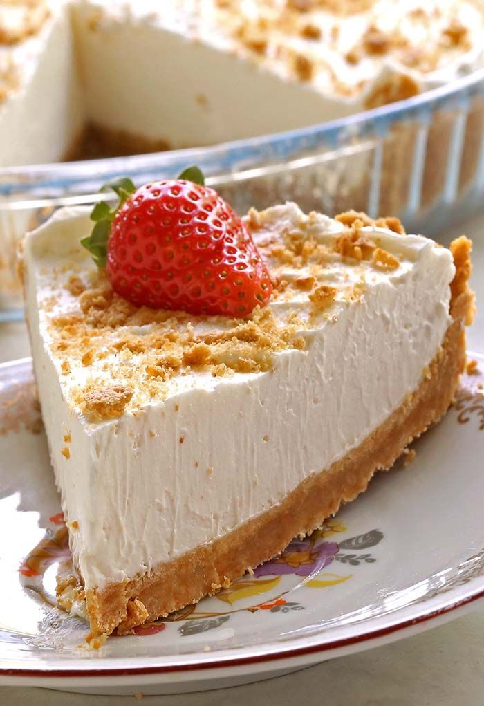 Easy Marshmallow Pie The BEST NO BAKE PIE you will ever have! Light and fluffy texture, very smooth consistency and a melt-in-your-mouth kind of bite.