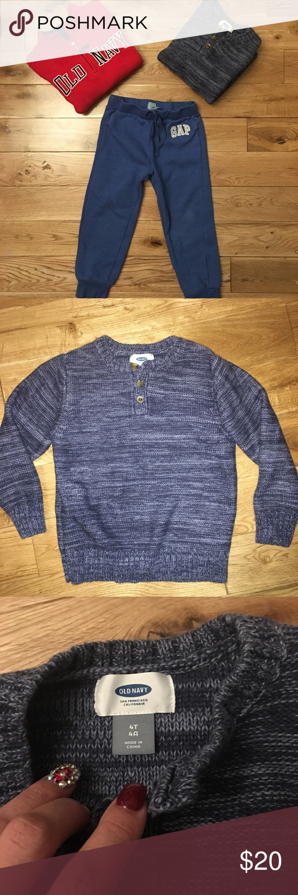 OLD NAVY / GAP BUNDEL Boys Size 4/4T | Fleece sweater, Sweat pants ...