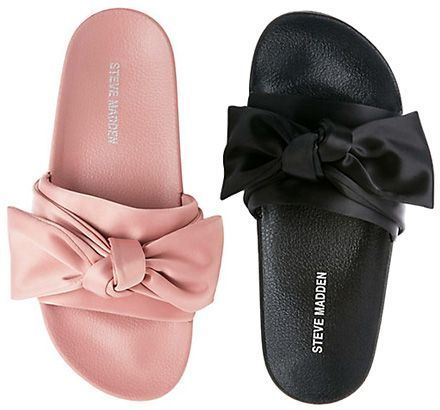 Satin Brooch Slip On Sandals PINK Kll GE5Mt