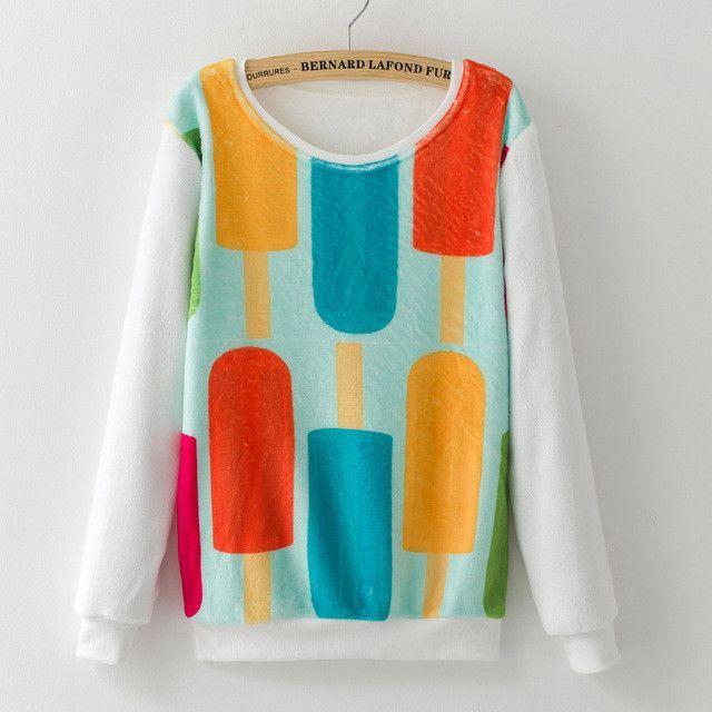 2017 New Top Selling Women's Long Sleeve Flannel Hoodies Cute Animal Print Pullovers Sweatshirts Winter Warm Tracksuit for Girls