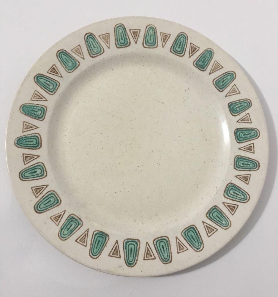 Vintage Mid Century Metlox Poppytrail California Pottery Navajo Dinner Plate S | eBay & Vintage Mid Century Metlox Poppytrail California Pottery Navajo ...
