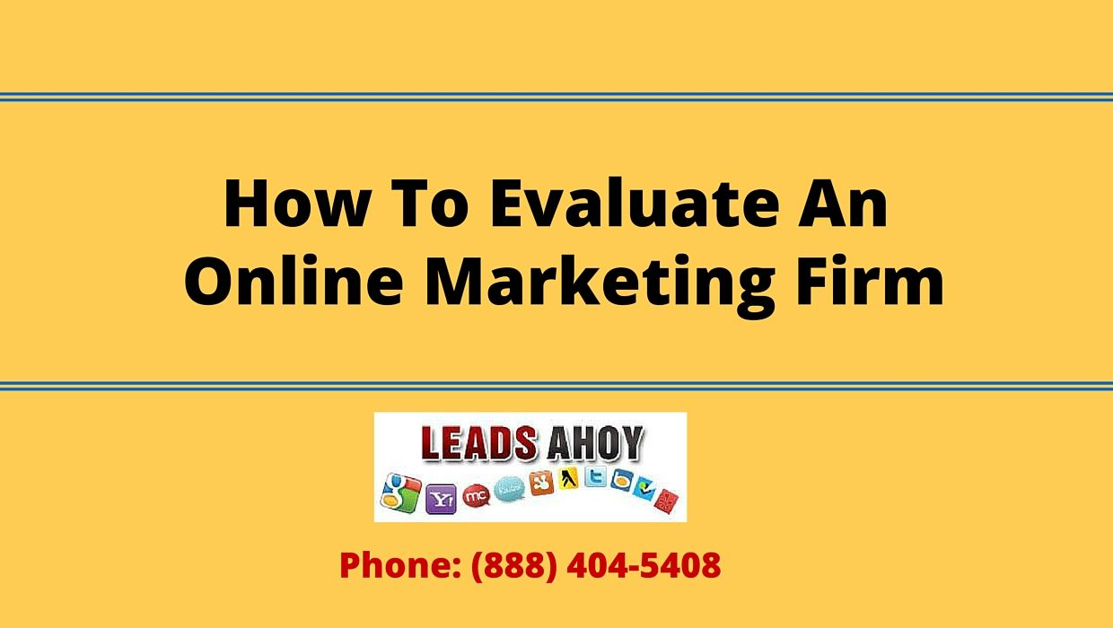 These days, every business needs an online marketing consulting firm.