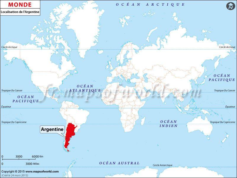 république dominicaine carte du monde Où est l'Argentine   Location map of #Argentina on World map