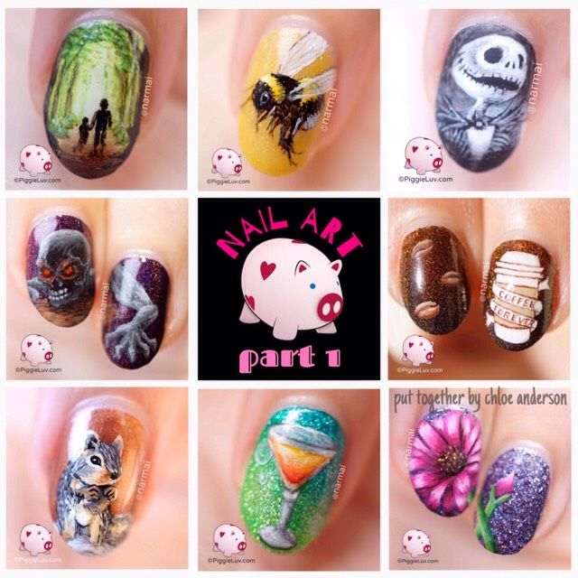 #nailartgoals PART 1 | amazing nail art // zombies, animals, landscapes, flowers \ piggieluv #Beauty #Musely #Tip