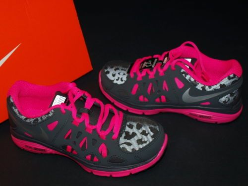 2013 Nike Dual Fusion Run 2 Shield Gs Dark Silver Pink Kids Girls