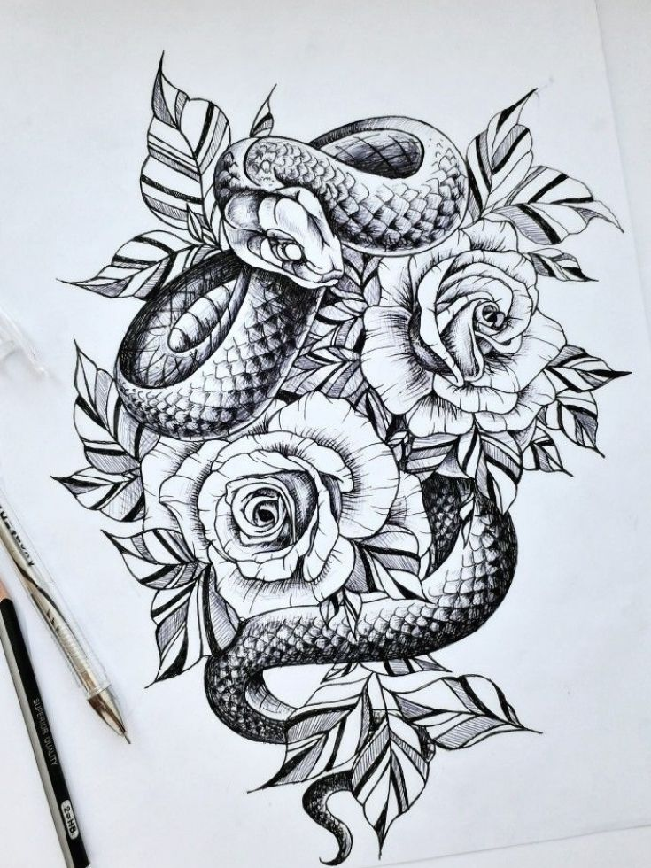 Sketch for tattoo