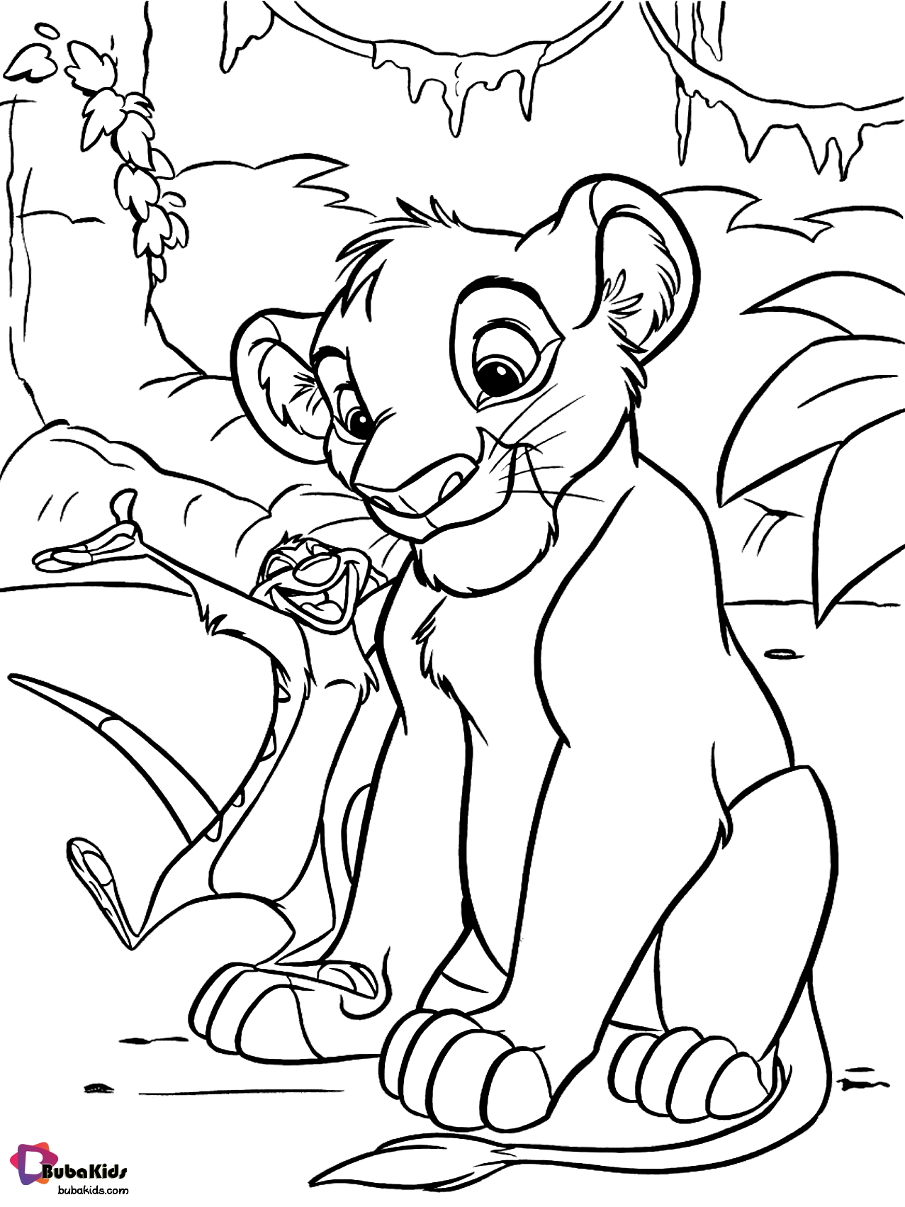Simba The Lion King Coloring Page In