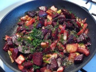 Gebratene Rote Beete mit Fenchel - Rezept