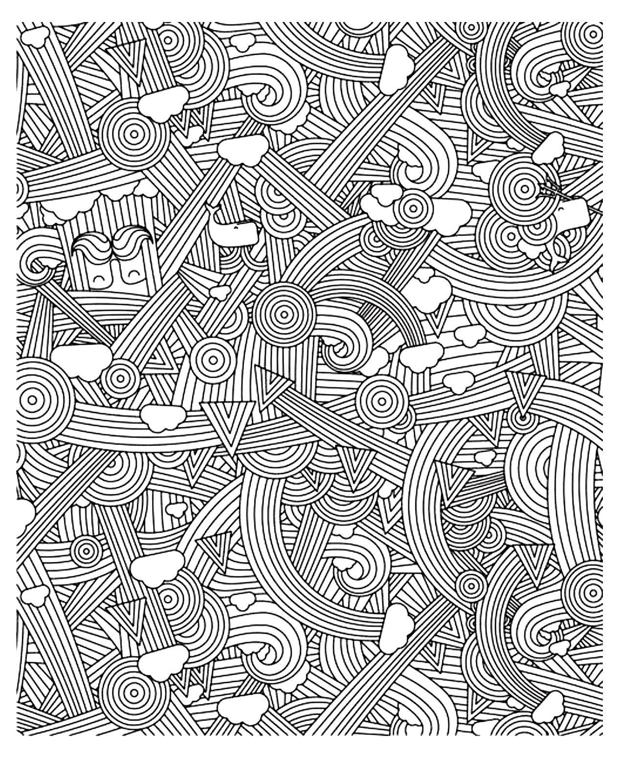 Zen Anti Stress A Imprimer Arcs En Ciel A Partir De La Galerie Anti Stress Stress Coloring Book Stress Coloring Antistress Coloring