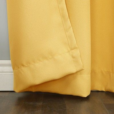 Montego Casual Textured Grommet Curtain Panel Yellow 48 X84 No 918 Adult Unisex Panel Curtains Grommet Curtains Drapes Curtains