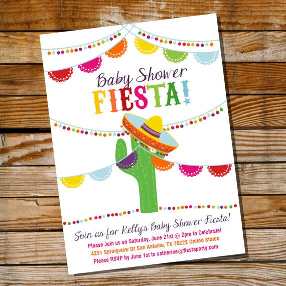 mexican fiesta baby shower invitation baby shower fiesta invite