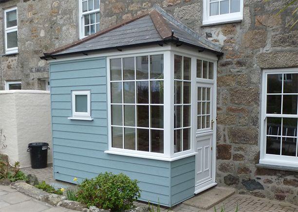 Upvc Clad Back Porch Google Search Cottage Front Doors Porch Design House With Porch