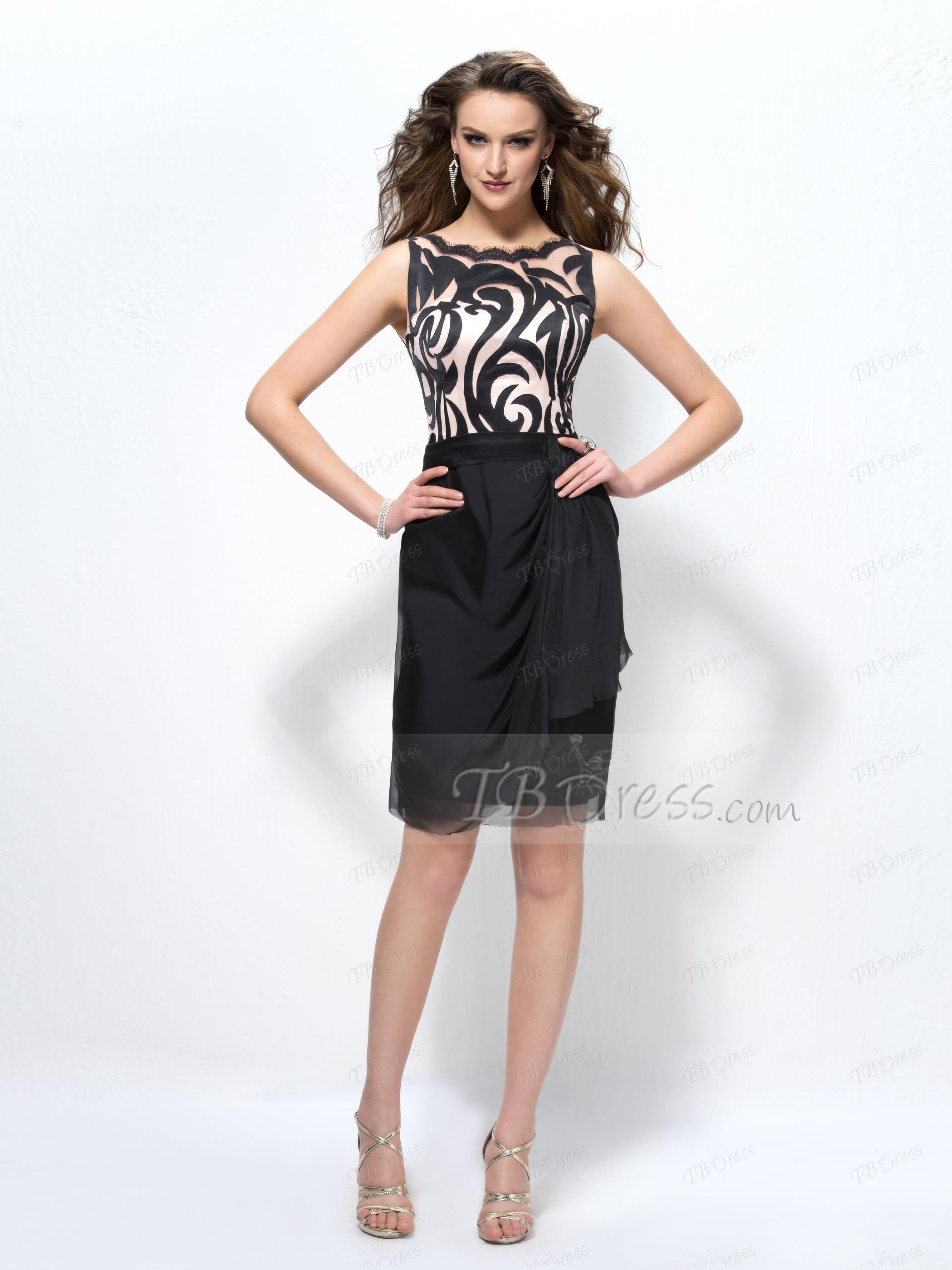 Office lady scoop zipperup column cocktail dress office ladies