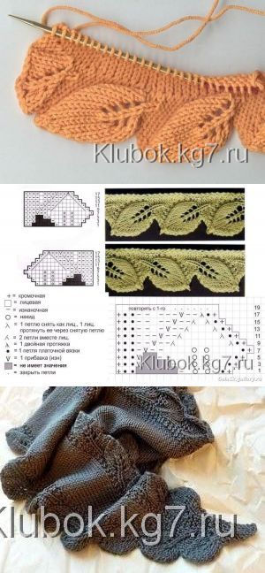 Klubokkg7ru Tejido Stickning Sjalmönster и Stickat