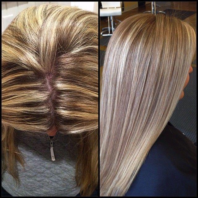 corrective color, blonde hair, dimension, lighter blonde ...