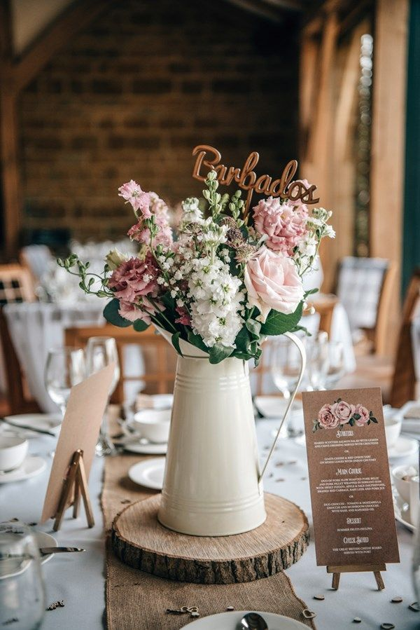 Photo of Real wedding: A rustic themed day with a blush pink color scheme and DIY touche …
