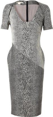 Antonio Berardi Leopard Patterned Cotton blend Dress Antonio Berardi