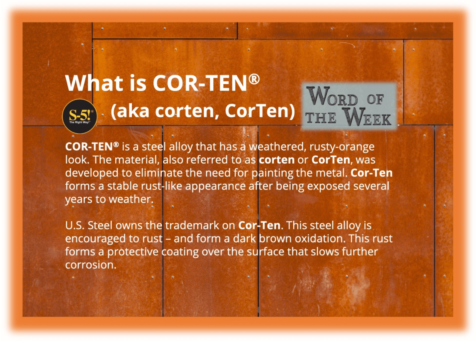 Cor Ten Corten Ten Metal Roof