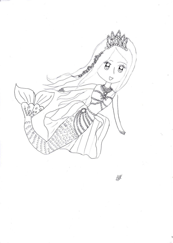 Barbie in the Pearl Princess Mermaid coloring pages | Mermaid- Deniz ...
