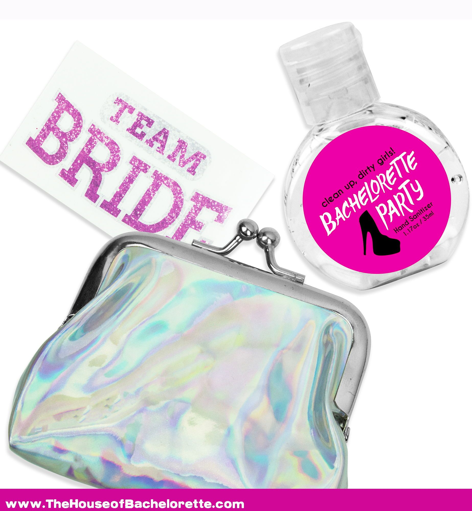 Bachelorette Party Silver Favor Kit Fun Bachelorette Party