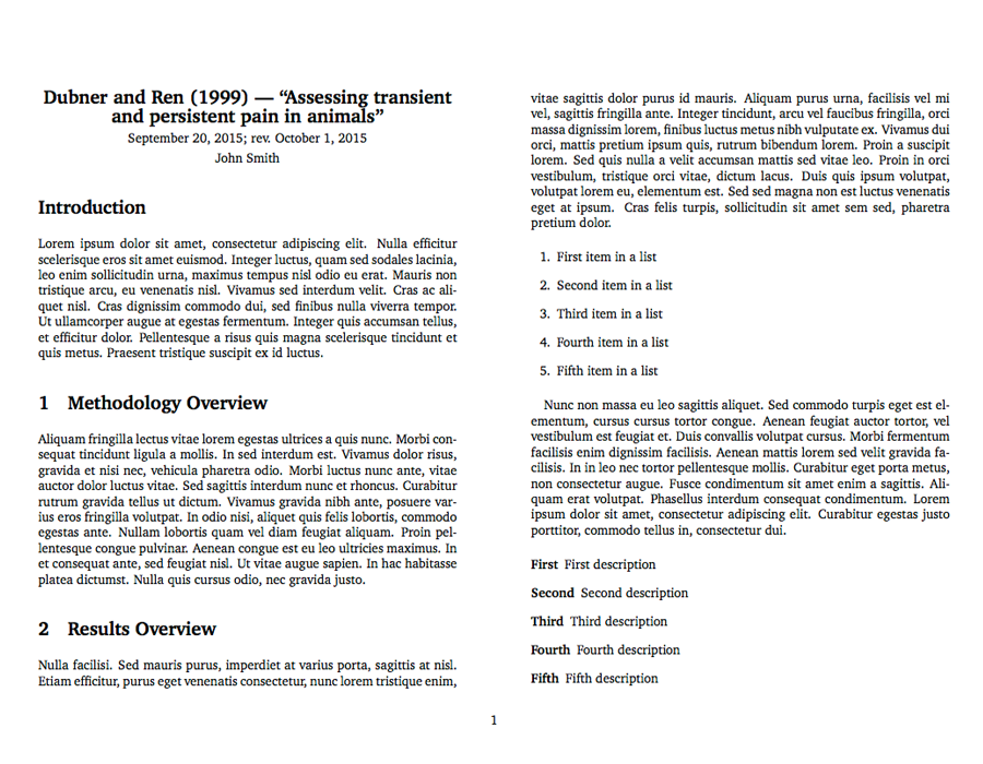 latex template for taking notes on an academic publication latex