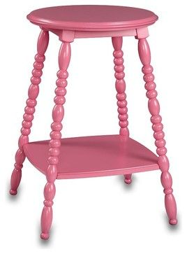 Petite Bedside Table Bright Pink Pbteen Eclectic Nightstands