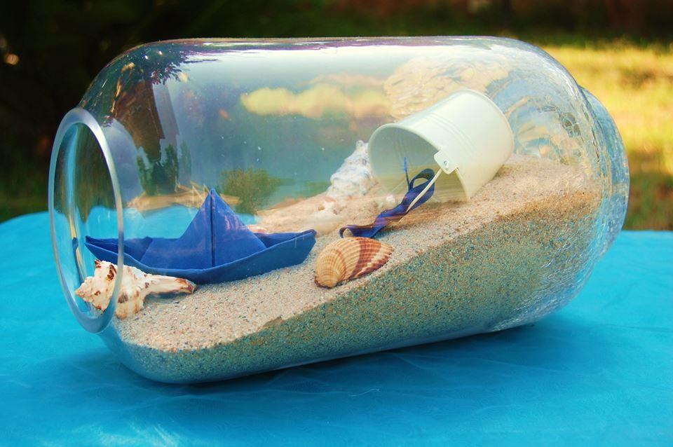 Centrotavola tema mare di vetro sea wedding matrimonio for Decorazioni torte tema mare