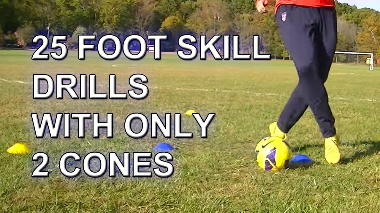 25 Fast Footwork Soccer Football Foot Skill Drills With 2 Cones Pdsa S Soccer Training Soccer Workouts Soccer Drills