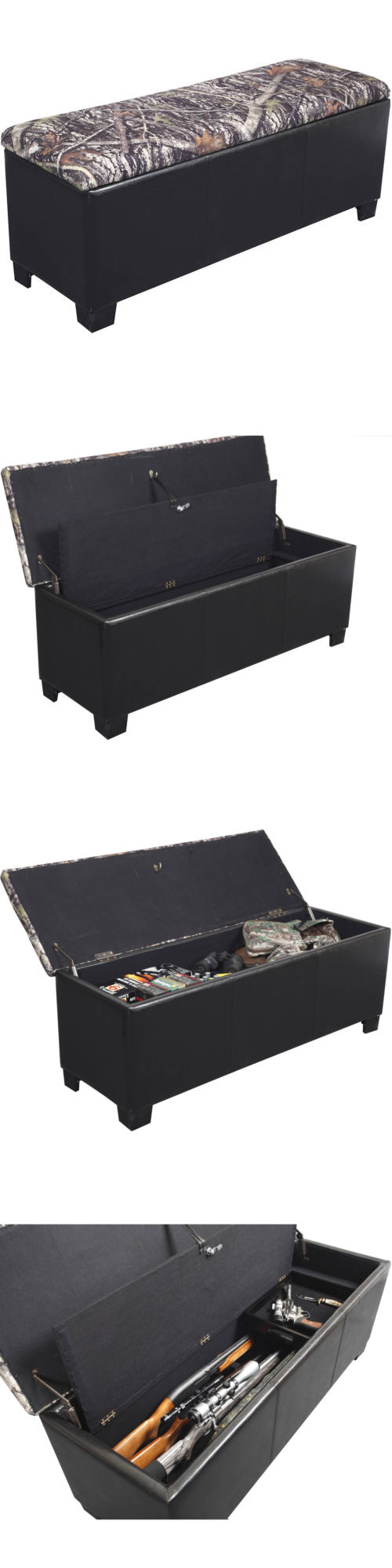 Cabinets and Safes 177877: Hidden Gun Storage Concealment Bench Camo Safe Cushioned Firearm Handgun Rifle -> BUY IT NOW ONLY: $157.74 on eBay!