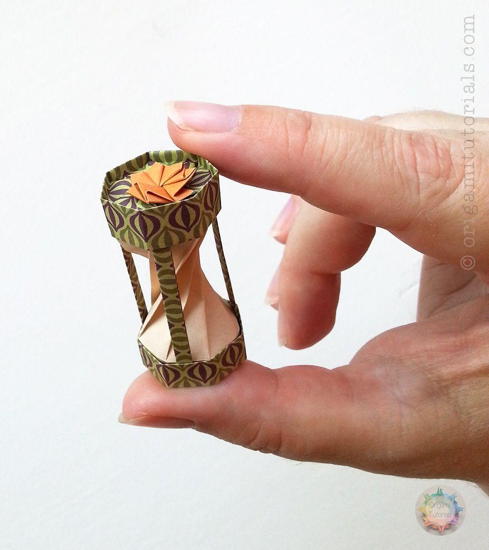 Miniature Origami Hourglass