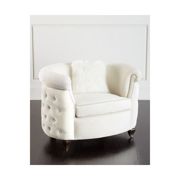 Haute House Miss Madison Tufted Chair ❤ Liked On Polyvore Featuring Home,  Furniture, Chairs, Accent Chairs, Ivory, Beige Tufted Chair, Faux Fur Chair,  ...