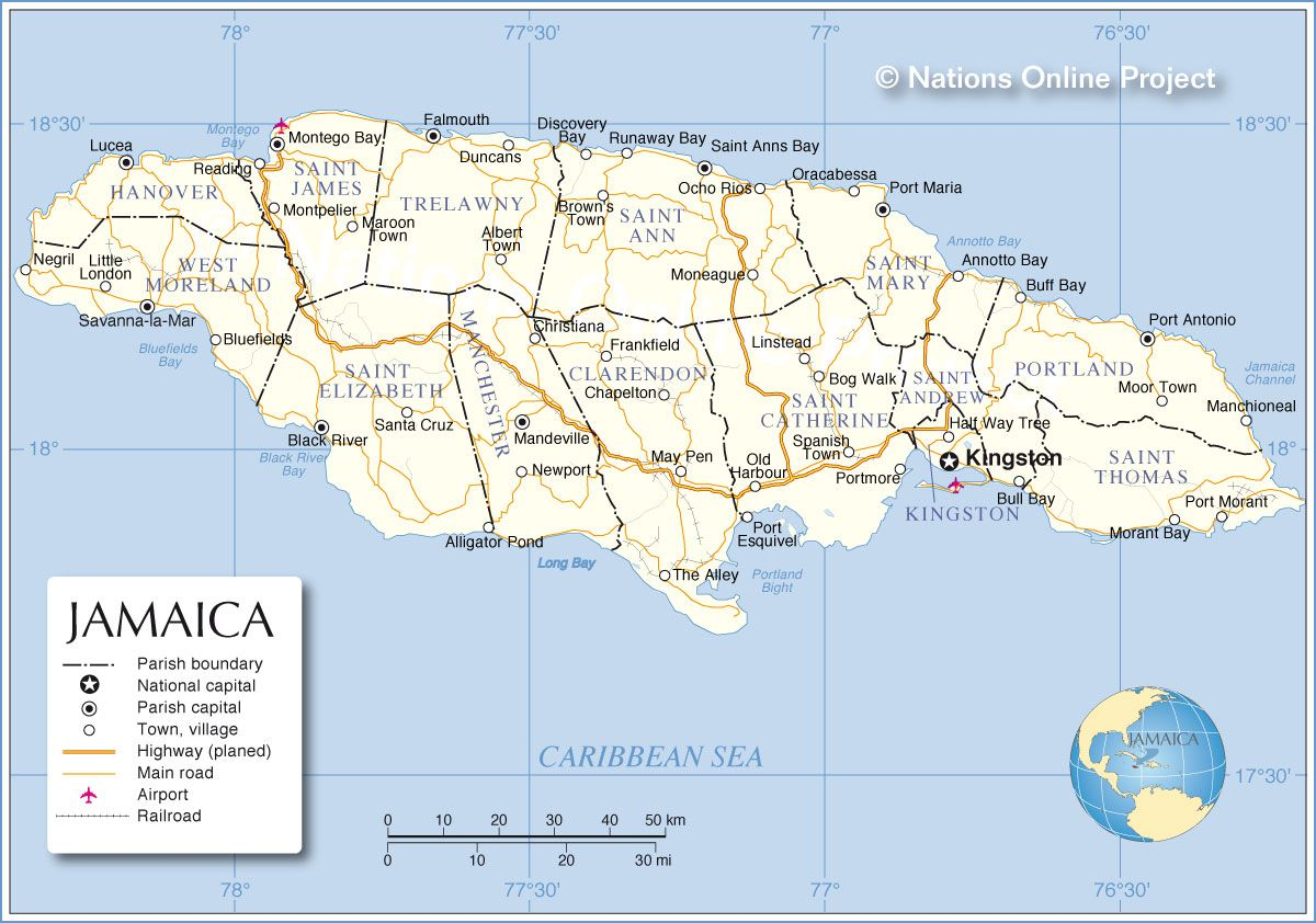 Map of jamaica montego bay jamaica montego bay and scenery map of jamaica montego bay sciox Images