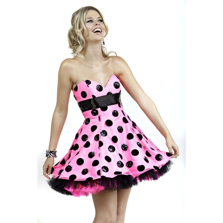 Pink Polka Party Dress