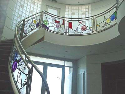 Best Stairway Railing Leaded Handblown And Fused Glass Each 400 x 300