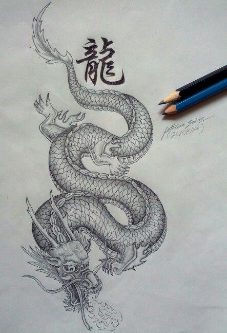 Resultado de imagen para dragon chino con rosa china  tatto