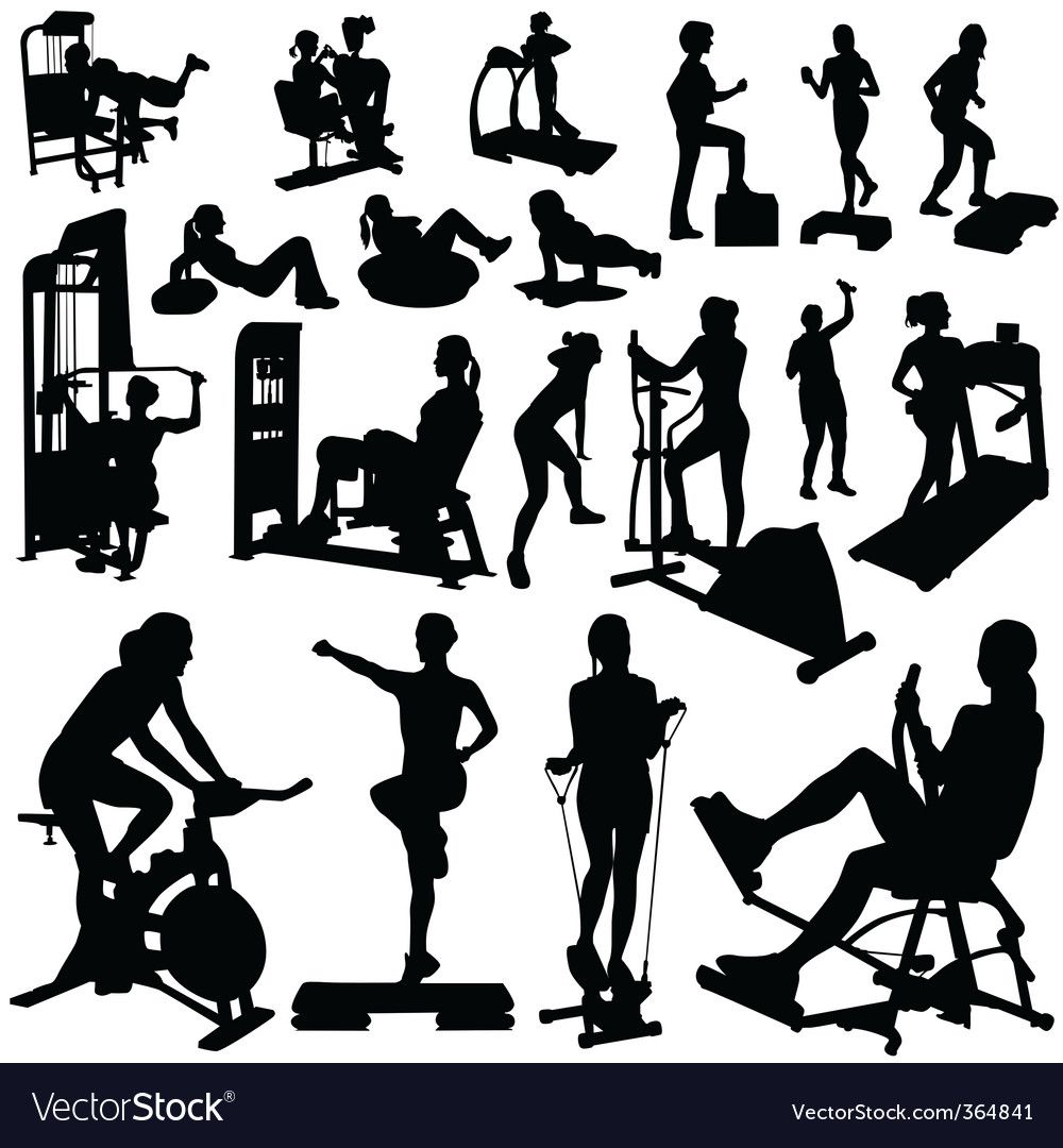 Fitness women Royalty Free Vector Image - VectorStock , #AFFILIATE, #Royalty, #women, #Fitness, #Fre...