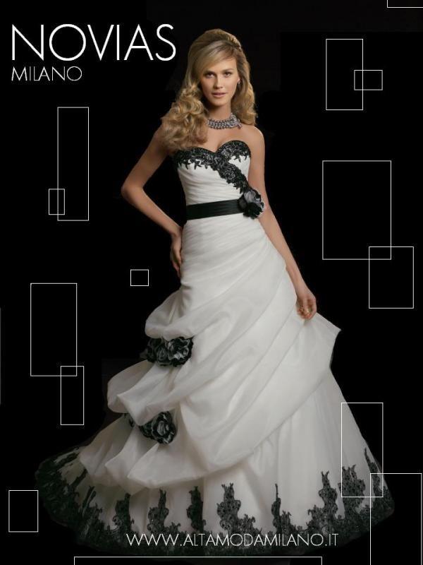 Estremamente Abito da sposa bianco e nero 2014 | sposa | Pinterest | Abito da  BT72
