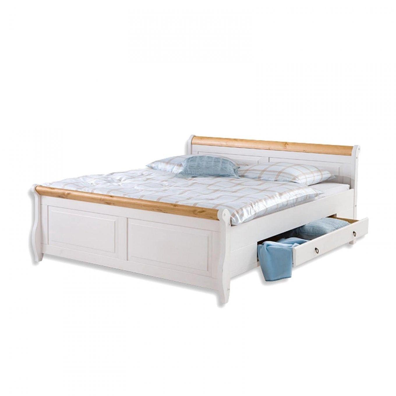 Roller Bett Malta Weiss Kiefer Massivholz 140x200 Cm Roller Von Roller Betten 140x200 In 2020 Ikea Malm Bett Malm Bett Bett 140x200