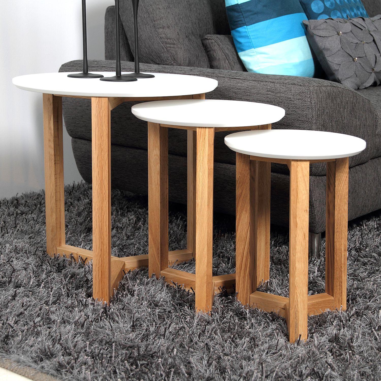 Beistelltisch Kumano 3er Set Wohnzimmertische Couchtisch Antik Couchtisch Sets