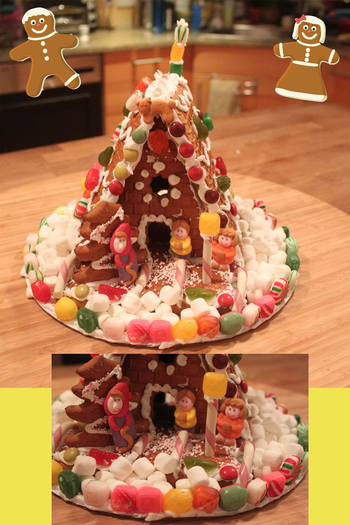 Trader Joe\'s Gingerbread House! It\'s the coolest looking kit I have ...