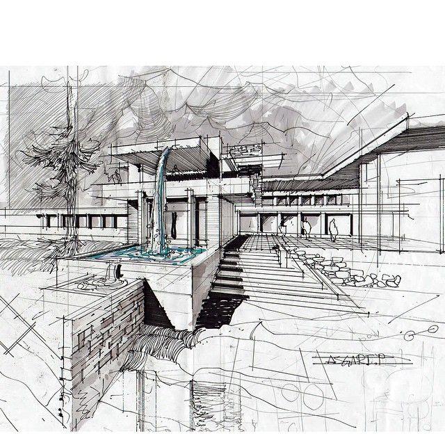 Architectdrw 39 s photo on instagram sketch architektur skizze architektur zeichnungen v - Architektur skizzen zeichnen ...