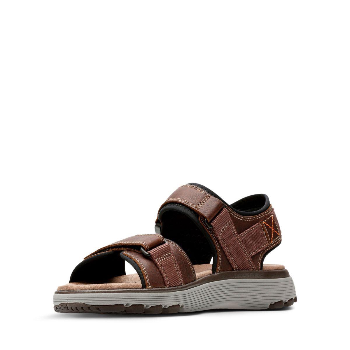 daadb05f3 Clarks Un Trek Part - Mens Sport Sandals Dark Tan Leather 10.5