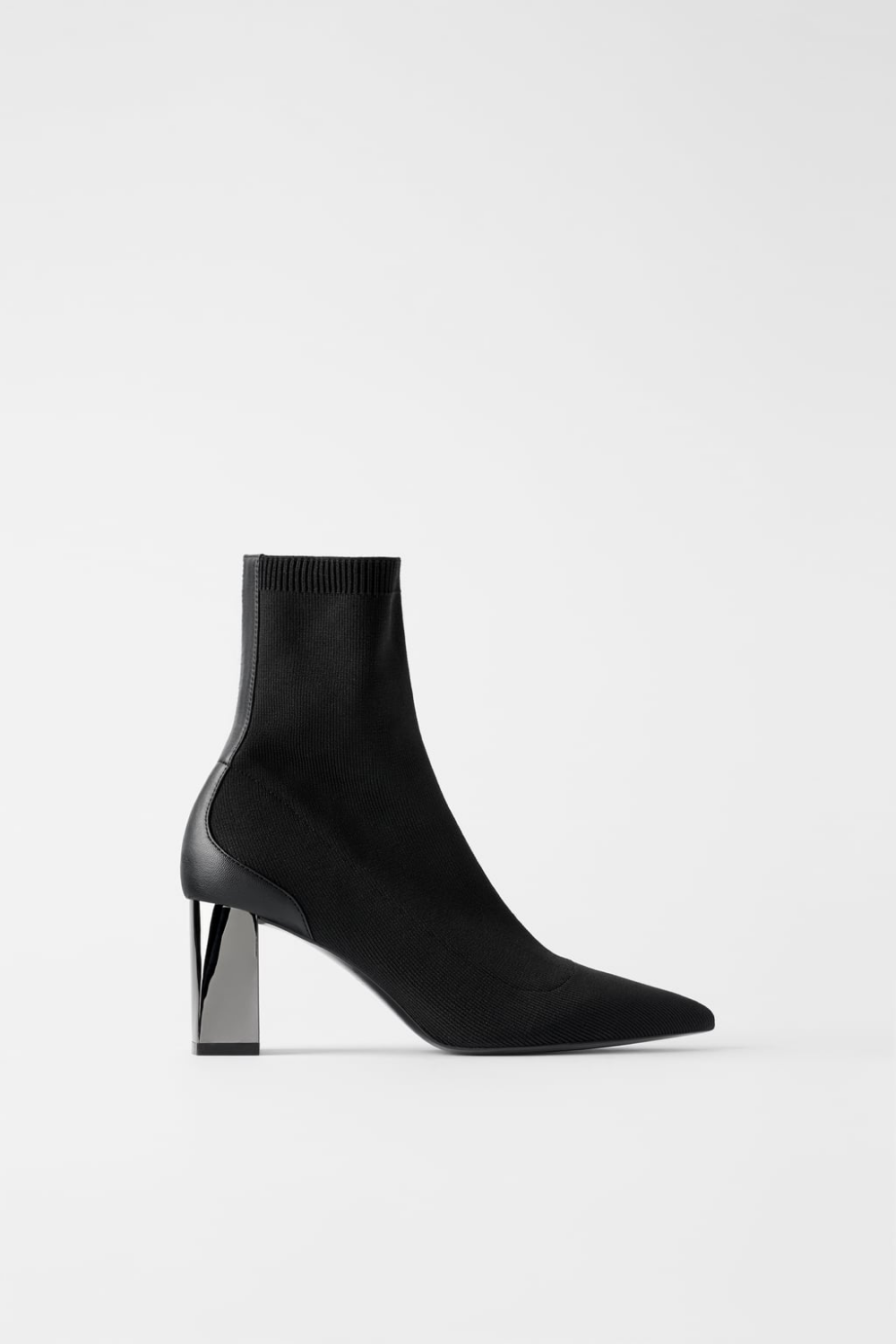 Stretch Ankle Boots With Metallic Heel Detail Heel Stretch Metallic Heels Boots