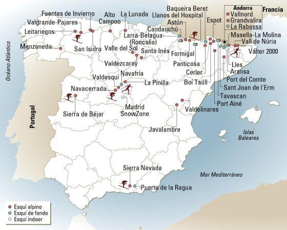 Todas Las Estaciones De Esquí De España Y Andorra Estaciones De Esqui Esquí Andorra