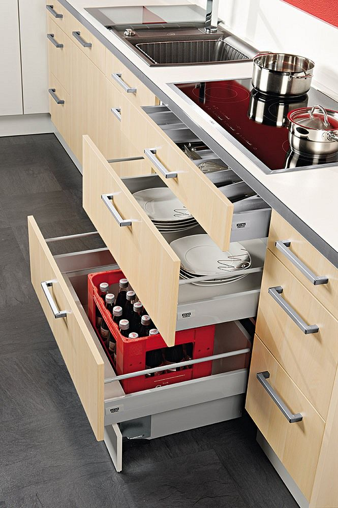 Unterschränke für die Küche richtig planen \ ausrichten kitchen - küchen unterschrank schubladen