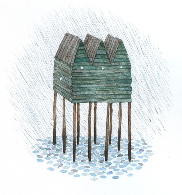 beach houses by Anna Emilia