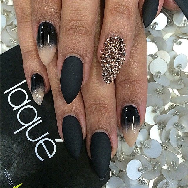 Part 1 Black And Tan Gradient Black With Matte Finish Gold Glitter Shiny Nails Designs Beautiful Nails Nail Designs
