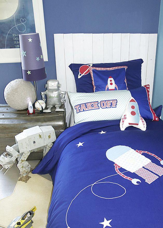 bettw sche f r kinder f r junge und m dchen in blau mit. Black Bedroom Furniture Sets. Home Design Ideas